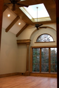 Vaulted ceiling with recessed tray for Master Bedroom
