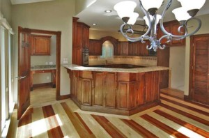 American cherry and maple kitchen